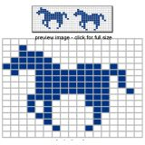Horse beadwork pattern