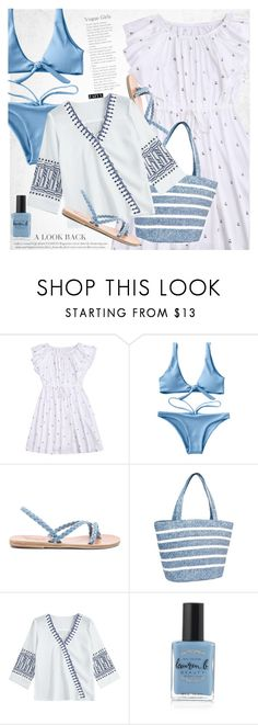 """Beach style"" by vanjazivadinovic ❤ liked on Polyvore featuring Ancient Greek Sandals, Magid, Lauren B. Beauty, polyvoreeditorial and zaful"