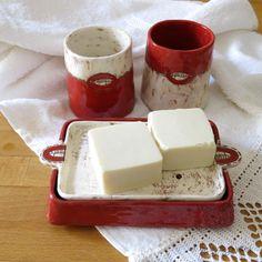 bathroom set - handmade ceramic by Giosy Matteu