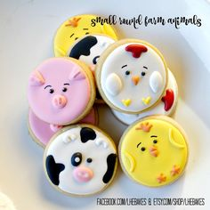 Small Farm Animal Sugar Cookies 2 Dozen by LHEBakes on Etsy