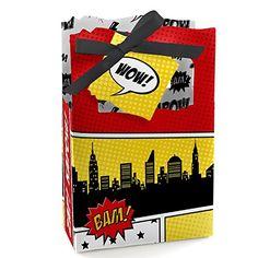 BAM! Superhero - Red & Yellow - Party Favor Boxes - 12 Count Big Dot of Happiness http://www.amazon.com/dp/B00P9VM2YC/ref=cm_sw_r_pi_dp_oq0Jub1QDB72S