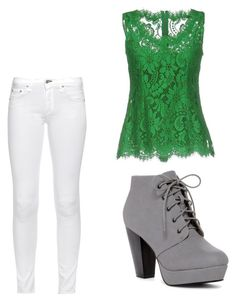 """""""Green"""" by mlilsw on Polyvore featuring ANNA, rag & bone and Dolce&Gabbana"""