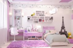 paris themed bedroom - Google Search