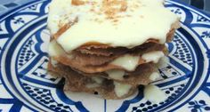 Ktefa - Crispy Moroccan Pastry Layered with Custard Sauce and Almonds: Ktefa or Milk Bastilla