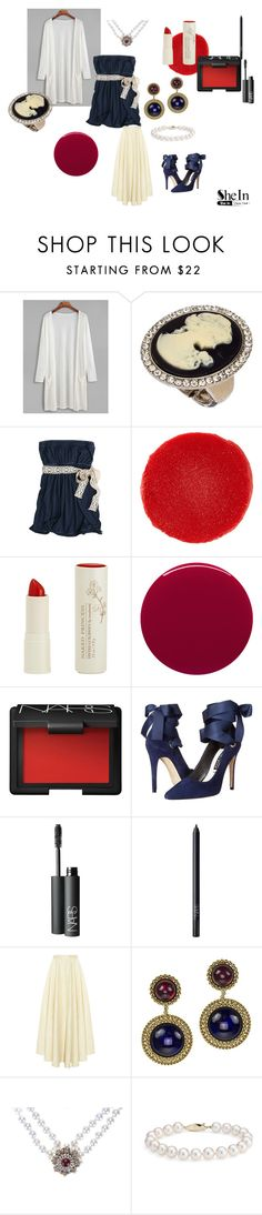 """Casual Victorian"" by alisafranklin on Polyvore featuring Blu Bijoux, Hollister Co., Christian Louboutin, Naked Princess, Smith & Cult, NARS Cosmetics, Alice + Olivia, The Row, Chanel and Blue Nile"