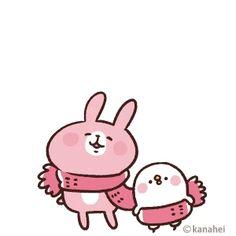 ダウンロード   カナヘイの小動物 スタンプ&ゲーム forスゴ得 Anime Animals, Cute Animals, Gifs, Pink Rabbit, Chibi Characters, Line Friends, Cute Images, Emoticon, Cute Cartoon