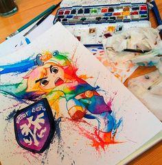 Lisa Marie #aquarela #zelda #link