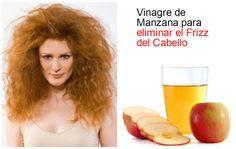 Tratamiento con vinagre de manzana para eliminar el frizz