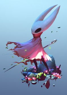 Hollow Knight & Hornet, Cassio Yoshiyaki on ArtStation at https://www.artstation.com/artwork/r3dr5