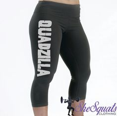 She Squats Clothing QUADZILLA Compression Capris. Quality Drifit Compression Capris. Comparable to high end brands! Great for working out!