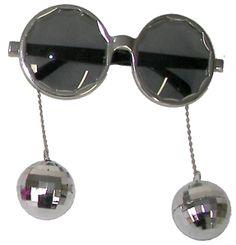 Lunettes Disco - Boules à facettes (coloris gris)