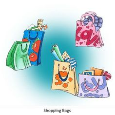 Shopping Bags Digi Stamp in Digital images