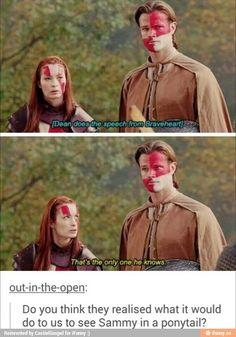 Charlie and Sam on Supernatural