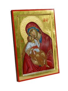galleryhand painted orthodox icon Virgin Mary of Don Mother of Tenderness, Mother of God, Our Lady, Blessed Virgin Mary The images present to you this beautiful hand painted orthodox icon created by Bulgarian artist Georgi Chimev. Byzantine Icons, Byzantine Art, Paint Icon, Beauty In Art, Blessed Virgin Mary, Religious Icons, Orthodox Icons, Mother And Child, Our Lady