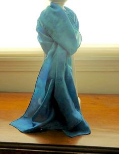 Hand Dyed Silk Scarf  Gift Idea  Fall Accessories by kitscreations
