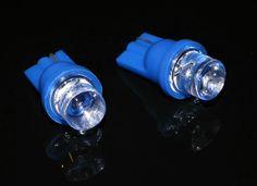 Żarówki LED W5W T10 wklęsłe Niebieskie - 2 szt. ORLED24