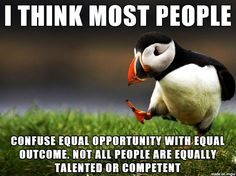 equal opportunity equal outcome