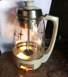 Vintage 1960 Electric Percolator Citation Proctor Silex Starburst Coffee Pot Mcm