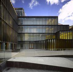 Archaeology Museum of Alava, Vitoria by Francisco Mangado Spanish Architecture, Architecture Awards, Facade Architecture, Tower Building, Building Design, Metal Facade, Le Havre, Facade Design, Modern Buildings