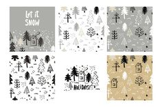 Hand Drawn Christmas gold set - Illustrations - 2