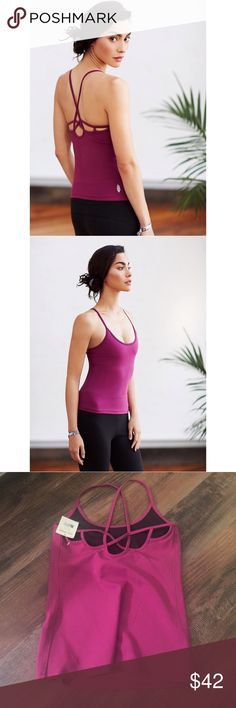 FP Movement Moonshadow Tank Free People Movement Moonshadow Tank.  NWT.  Shelf bra attached- no underwire or molded cups.  Fuschia color Free People Tops Tank Tops