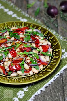 Salata de fasole cu ardei copti - CAIETUL CU RETETE
