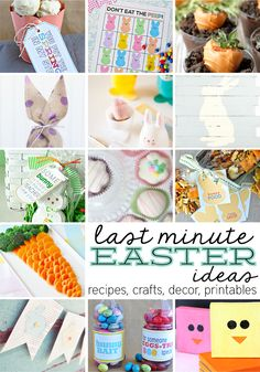 Simple and fun last minute Easter and spring ideas- recipes, printables, crafts and home decor! There's a little something for everyone.