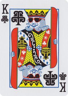 K♣ Bicycle® Burton Playing Cards – Art of Play