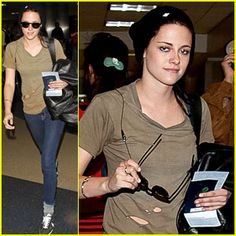 Kristen Stewart: Ripped Shirt at LAX Ripped Shirts, Celebs, Celebrities, Kristen Stewart, Twilight, Cute Outfits, Fitness, People, Clothes