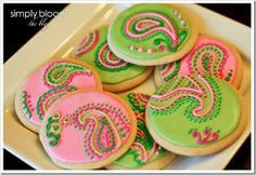 Paisley- decorated cookies!