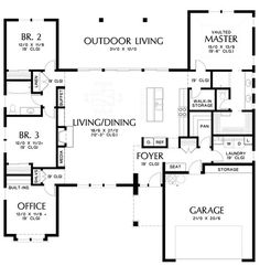 Image for Baines-Flexible and Amenity Rich Mid Century Modern Plan-Main Floor Plan