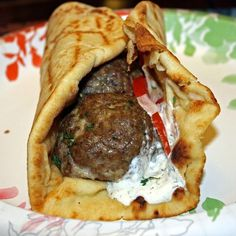 Mediterranean Beef Meatball Kabobs were easy to make and very tasty. Allrecipes.com #ItsWhatsForDinner