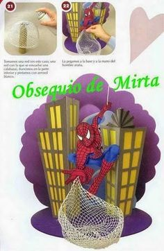 Eu Amo Artesanato: Homem aranha para festas com passo a passo e molde