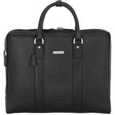 Brooks Brothers Men Leather Briefcase ($350) ❤ liked on Polyvore featuring men's fashion, men's bags, men's briefcases, black, mens leather briefcase and mens briefcase