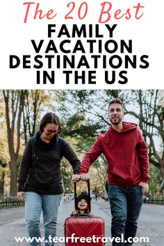 If you are planning a US family vacation, we've compiled a list of the top 20 family vacation destinations in the US for your next big trip. These handpicked vacation destinations have a lot to offer for kids and families. Whether you are looking for adventure, relaxation, or a mix of both, we have something to please every traveler on this list. Us Family Vacations, Best Family Vacation Destinations, Family Travel, London With Kids, Europe Travel Guide, Free Travel, Travel With Kids, This Is Us, Families