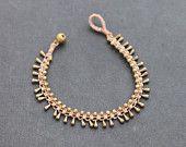 Nude Water Drop Brass Bracelet