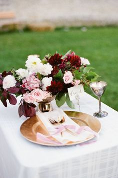 maroon and blush flowers - Google Search