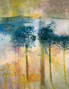 Trees against Pale Sunlight - Leonard Henry Rosoman (seen at York Art Gallery)