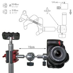 (1/3) UNIVERSAL HOLDER FOR CAMERAS AND LASERS This is one of he last products we have developed. It was created as a #multiprop accessory but we think it has his own utility.   It is a #Piher #Muliclamp with a alluminium esructure with 360º ball joint.  #Piher #multiclamp #multiprop #IDI #cameraSupport #cameraholder #tripod #cinemaography #UniversalHolder #laserholder