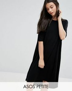 ASOS PETITE Oversized T-shirt Dress with Curved Hem