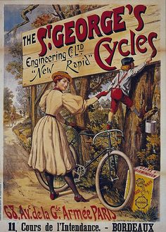 old retro vintage Bicycle poster