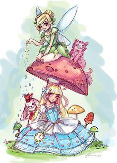 Alice and the Fairy by NoFlutter.deviantart.com on @deviantART