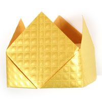 traditional origami crown
