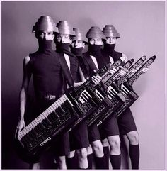 Devo - an American New Wave band formed in 1972 consisting of members from Kent and Akron, Ohio.