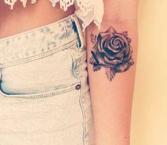 love this ink #rose #ink #underarm #tattoo