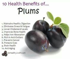 Did you know that #plums have more to offer than just a great taste? Check out these awesome health benefits! You can't go wrong with one of #BrandtFarms plums! #WeKnowFruit www.brandtfarms.com