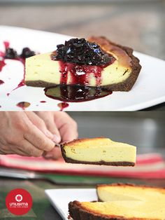 Cheesecake de batata y arándanos. 3 minutos con Santiago Giorgini. http://www.utilisima.com/recetas/11402-cheesecake-de-batata-y-arandanos.html