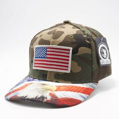 Shop Pit Bull Exclusive Design Snapback US Flag Printed Custom Brim Green  Army Camo Crown with US Flag Embroidery Hats Caps Wholesale 876c129bcee2