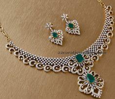 Jewellery Designs: Diamond Set by Surana Jewellers