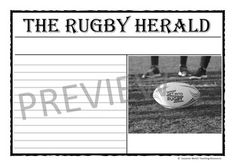 Rugby Activity Sheets by Suzanne Welch Teaching Resources Writing Activities, Classroom Activities, Teaching Resources, Argumentative Writing, Rugby World Cup, Activity Sheets, Article Writing, Interview Questions, Special Events